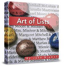 art of lists book